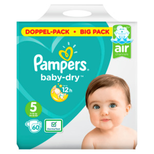 Pampers Baby Dry Windeln Gr.5 Junior 11-16kg 60 Stück