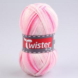 Wolle TWISTER BABY - rose - gefleckt - 50g