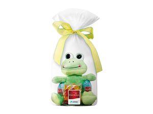 Plüschfigur mit Süßigkeiten