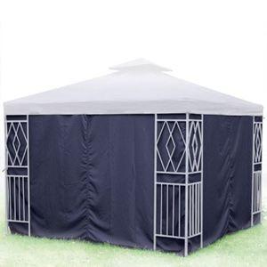 Seitenteile für Aluminium-Pavillon 3x3m Blau