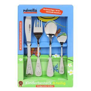 Nivella Edelstahl-Kinderbesteck 4-teilig