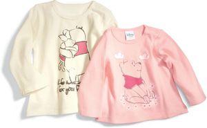 Baby Shirt langarm, 2er Pack - Winnie the Pooh, Mädchen - Gr. 68/74