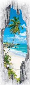 EASYmaxx Türsticker 3D Karibik 50x140cm mehrfarbig