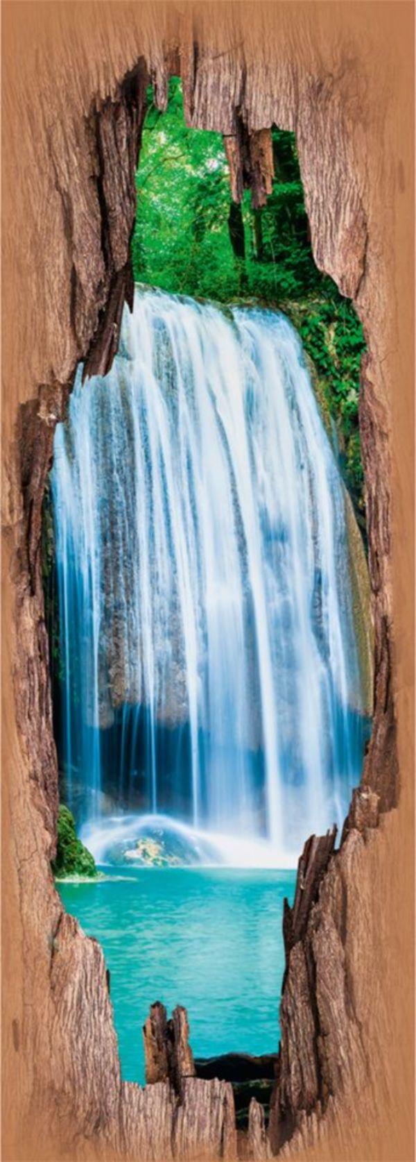 EASYmaxx Türsticker 3D Wasserfälle 50x140cm mehrfarbig