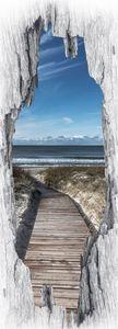 EASYmaxx Türsticker 3D Strand Nordisch 50x140cm mehrfarbig