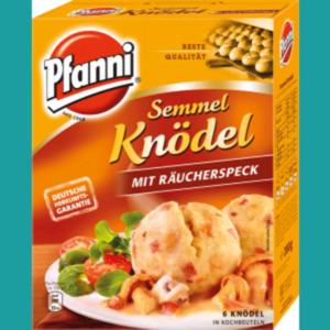 Pfanni Knödel oder Kartoffelteige