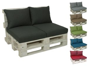 GO-DE Textil Lounge Paletten-Kissen 2er Set