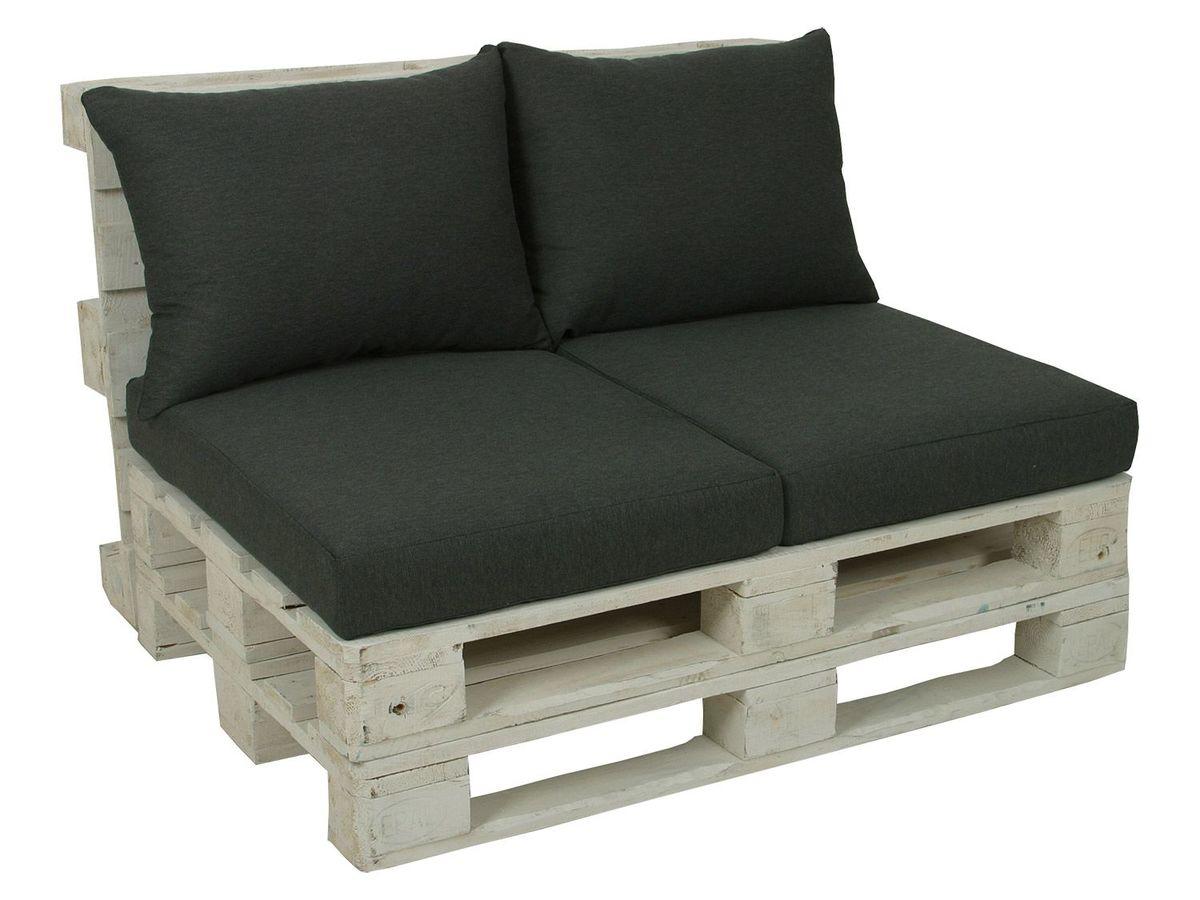 Bild 2 von GO-DE Textil Lounge Paletten-Kissen 2er Set