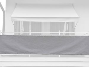 Angerer Balkonbespannung einfarbig hellgrau