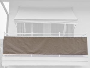 Angerer Balkonbespannung einfarbig taupe