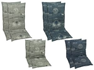 GO-DE Textil Sessel-Auflage Luxurious Garden 2er Set