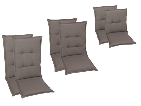 GO-DE Textil Sessel-Auflage taupe 2er Set