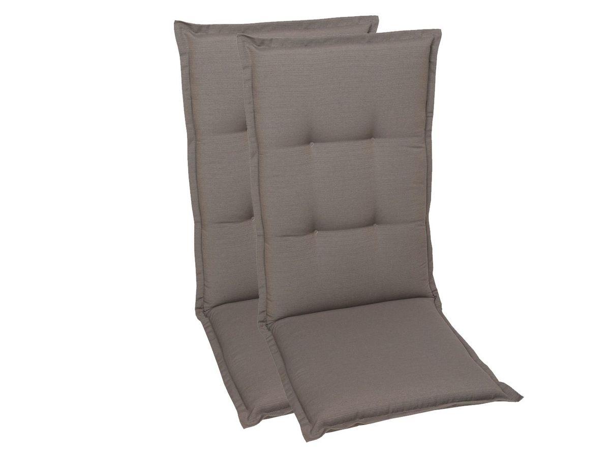 Bild 3 von GO-DE Textil Sessel-Auflage taupe 2er Set