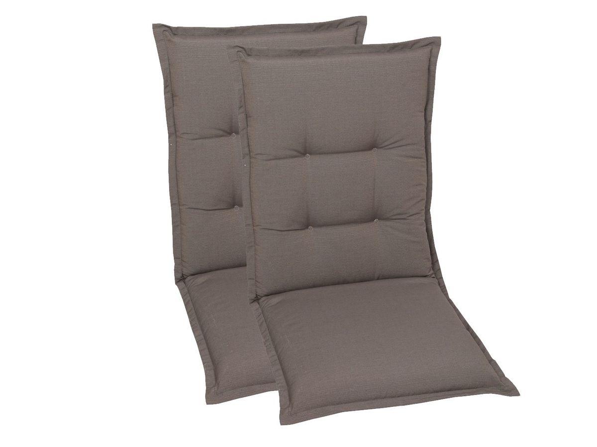 Bild 5 von GO-DE Textil Sessel-Auflage taupe 2er Set