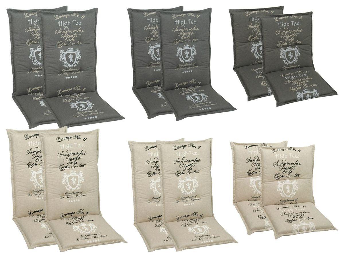Bild 1 von GO-DE Textil Sessel-Auflage High Tea 2er Set
