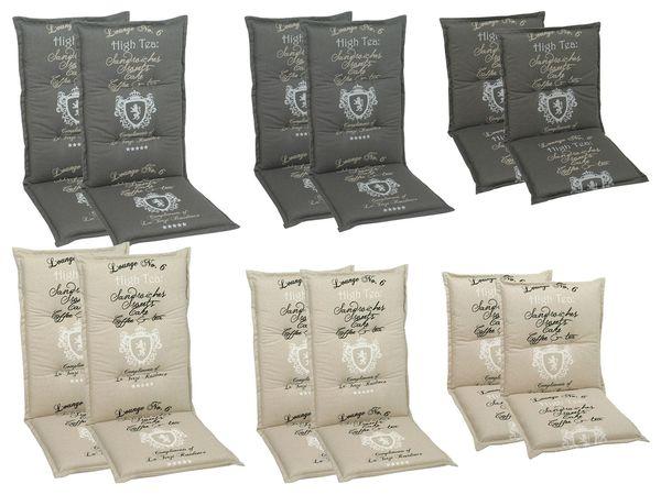 GO-DE Textil Sessel-Auflage High Tea 2er Set
