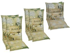 GO-DE Textil Sessel-Auflage Flamingo olive 2er Set