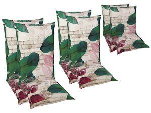 GO-DE Textil Sessel-Auflage Blumen 2er Set