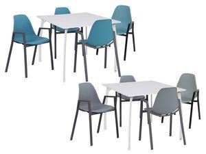 Greemotion Aluminiumstuhlset 4er + Tisch Toulouse