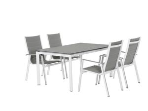 MWH Gartenmöbel - Set Futosa  5 -teilg Stapelsessel und Tisch