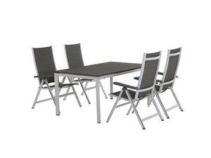 MWH Gartenmöbel - Set Futosa  fünfteilig Klappsessel und Tisch