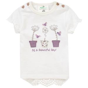 Newborn T-Shirt mit Schulterknöpfung