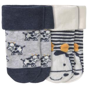 2 Paar Newborn Socken mit Kuh-Motiven