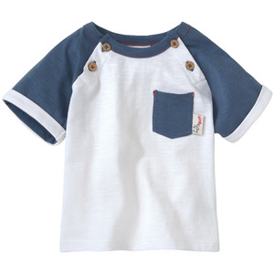 Newborn T-Shirt mit Flammgarn