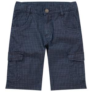 Jungen Jeans-Shorts im karierten Design