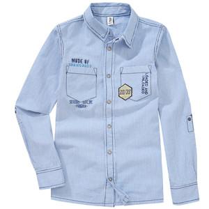Jungen Hemd im gestreiften Design