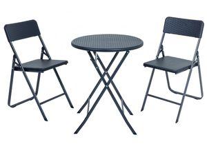 Garden Pleasure Balkon-Set VENTANA mit rundem Tisch, 3-teilig