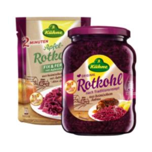 Kühne Rotkohl, Fasskraut, Fix & Fertig Rotkohl oder Sauerkraut
