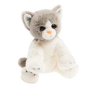 SMIKI Katze grau-weiß sitzend 23 cm
