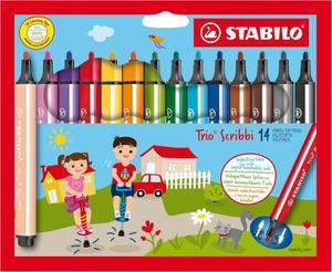 STABILO 14er-Pack Fasermaler Trio Scribbi