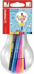STABILO Fasermaler Pen 68 Mini Colorful Ideas 12er