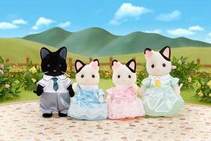 Sylvanian Families Tuxedo Katzen Familie Schwarzoh