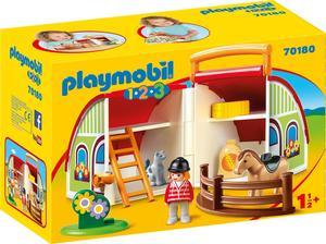 PLAYMOBIL 70180 Mitnehm-Reiterhof