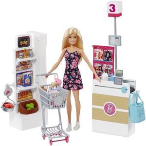 Barbie Supermarkt mit Puppe