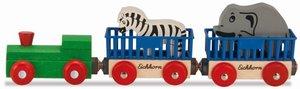 Eichhorn Holzeisenbahn Tierzug 5-teilig