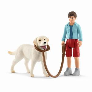 Schleich 42478 Spaziergang mit Labrador Retriever