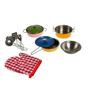 SMIKI Küchenset Edelstahl 11-teilig