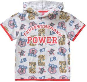 Feuerwehrmann Sam T-Shirt mit Kapuze Gr. 92/98 Jungen Kleinkinder