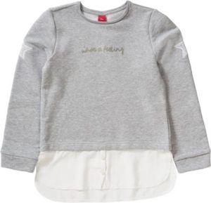 Sweatshirt mit angesetzter Bluse , Stern Gr. 176 Mädchen Kinder