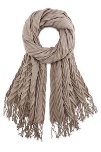 Plissee-Schal von Cox in taupe für Damen