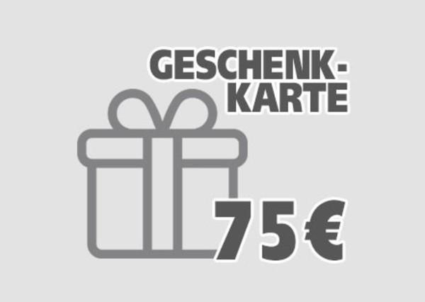 Geschenkgutschein ,  75 EUR Geschenkkarte per E-Mail