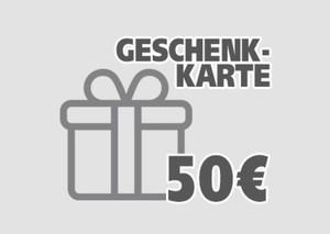 Geschenkgutschein ,  50 EUR Geschenkkarte per E-Mail