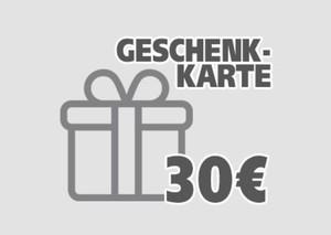 Geschenkgutschein ,  30 EUR Geschenkkarte per E-Mail