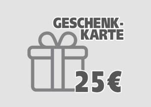 Geschenkgutschein ,  25 EUR Geschenkkarte per E-Mail
