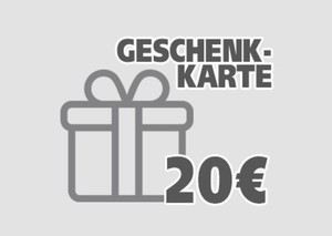 Geschenkgutschein ,  20 EUR Geschenkkarte per E-Mail