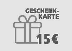 Geschenkgutschein ,  15 EUR Geschenkkarte per E-Mail